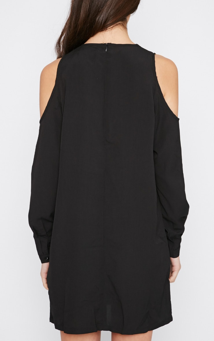 Genny Black Cut Out Shoulder Dress 2