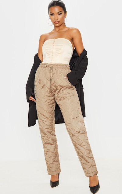 Stone Quilted Jogger