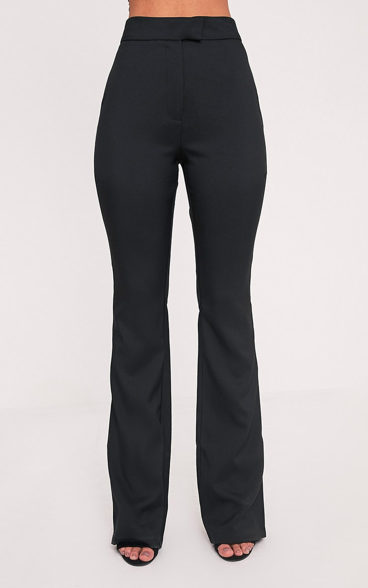 Jessa Black Fit and Flare Trousers 2