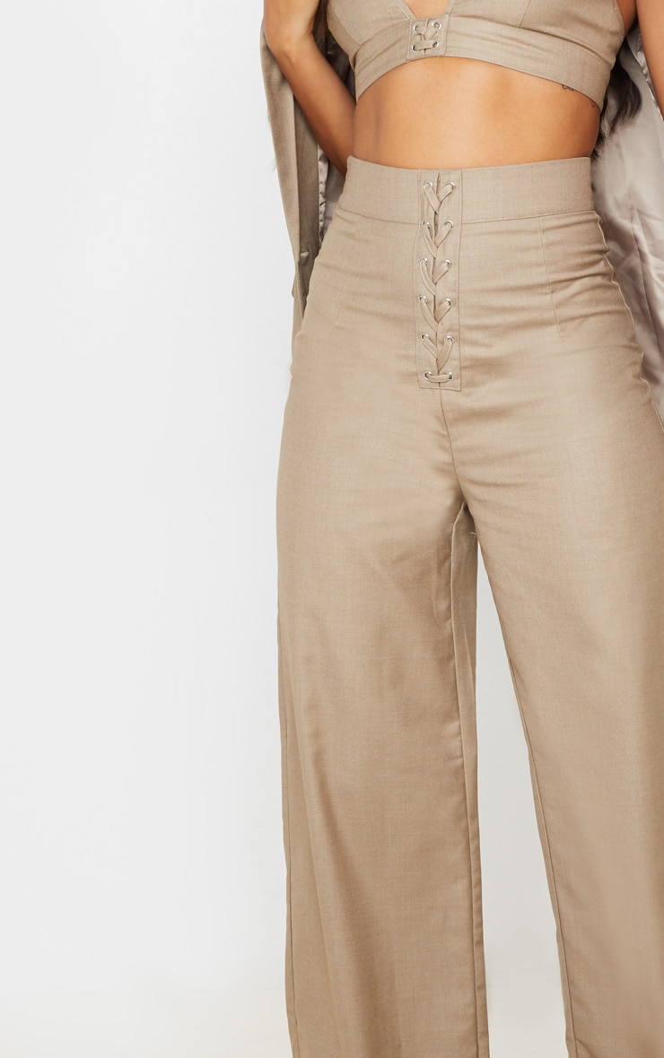 Stone Woven Extreme High Waist Wide Leg Trousers 5