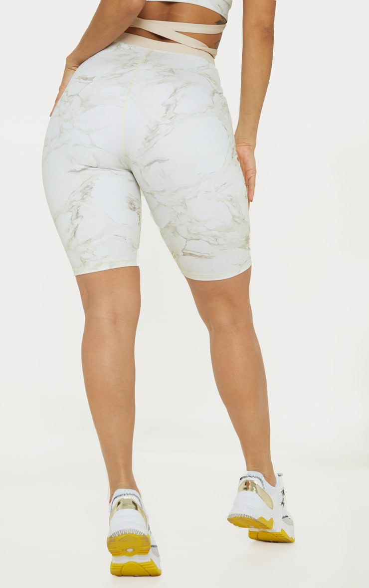 Stone Marble Contrast Waist Cycle Short 4
