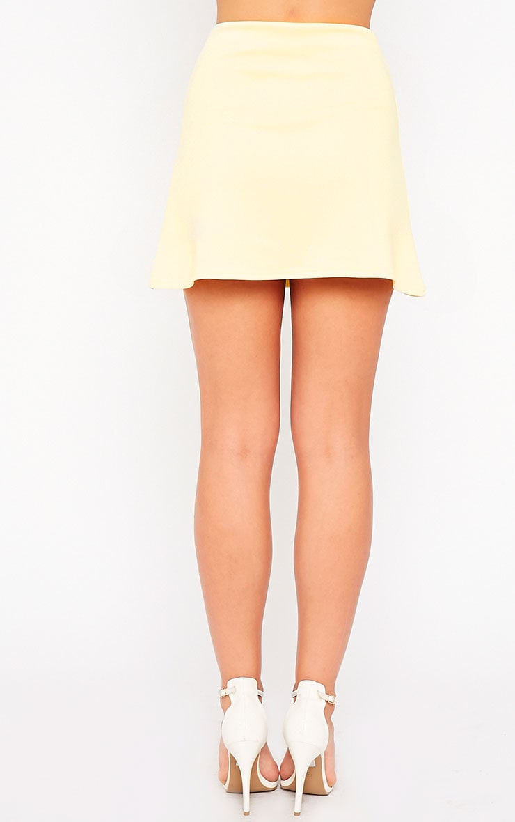 Lauryn Lemon Scuba A Line Skirt 4