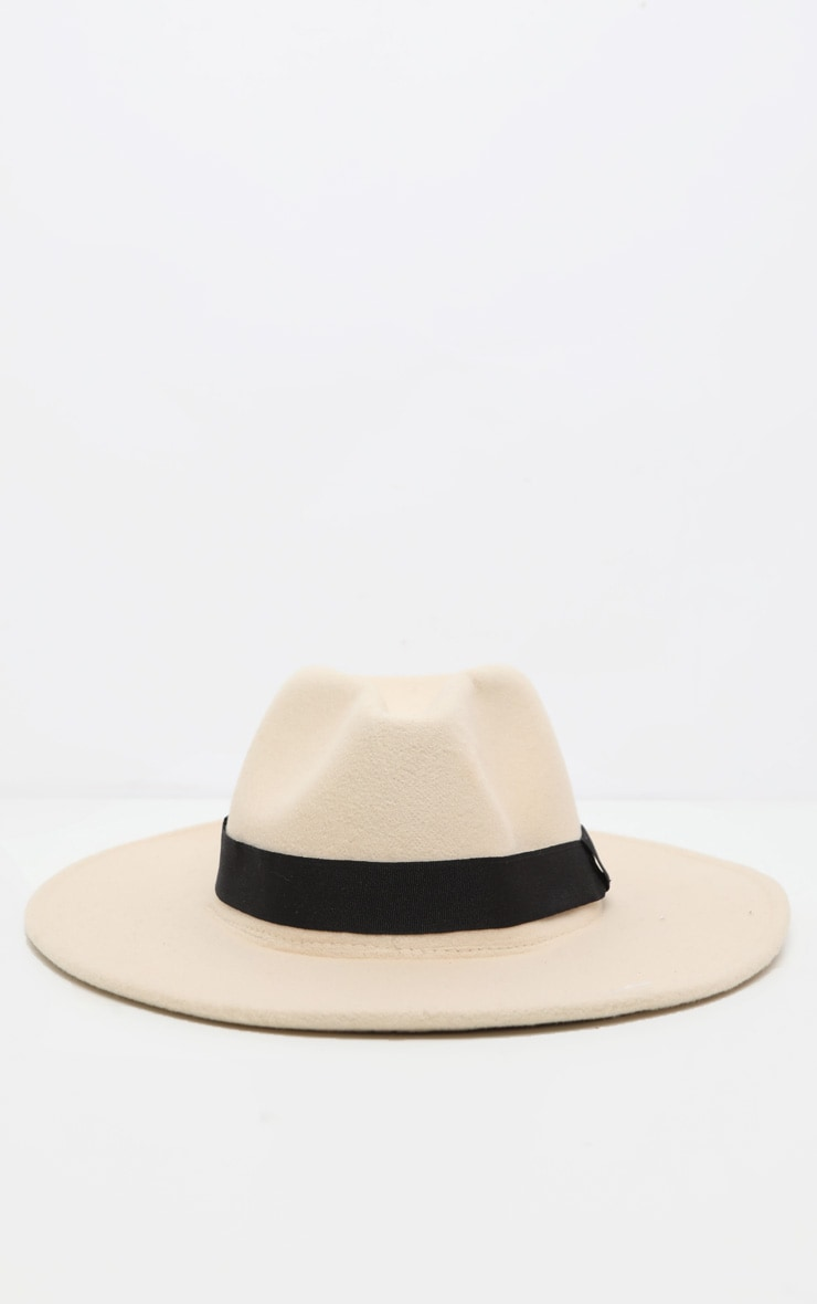 White Basic Fedora Hat 2