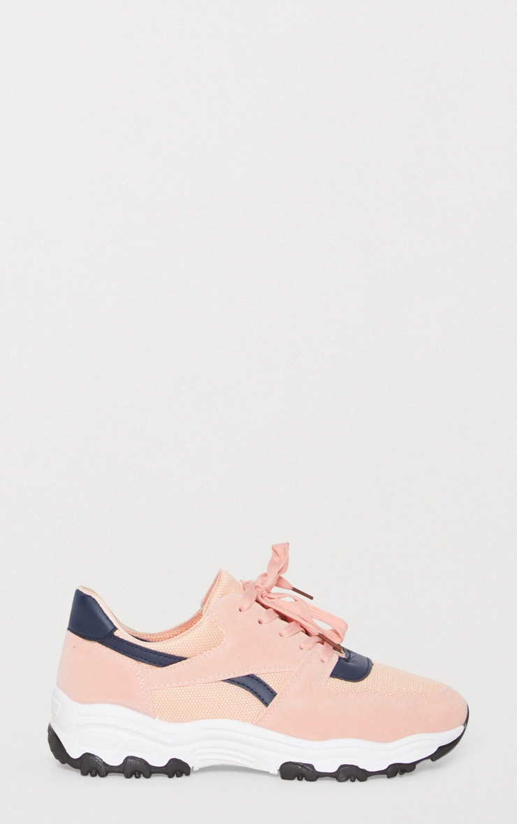 Pink Lace Up Chunky Trainer 3