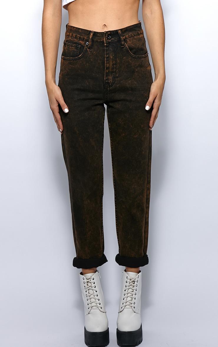 Courtney Mustard Diesel Wash Mom Jeans 4