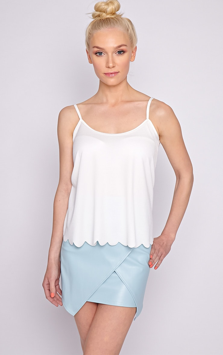 Kailey White Scallop Vest 1