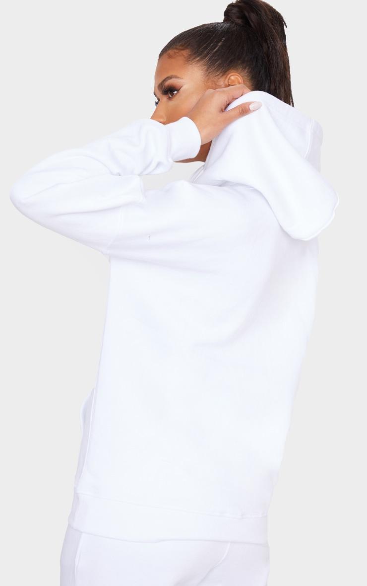 PRETTYLITTLETHING White Slogan Hoodie 2