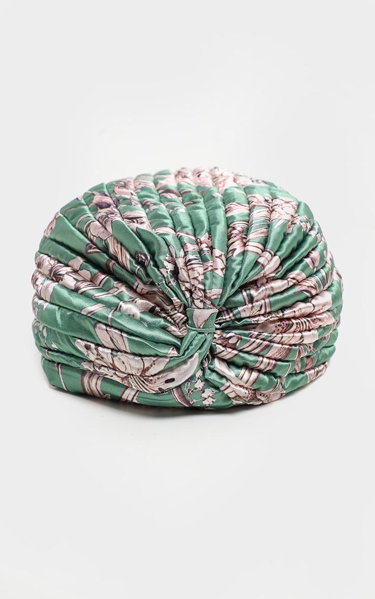 Green Floral Turban 3