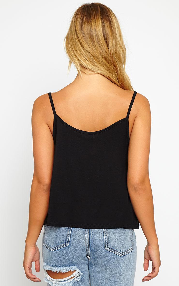 Basic Black Jersey Swing Cami Top 2