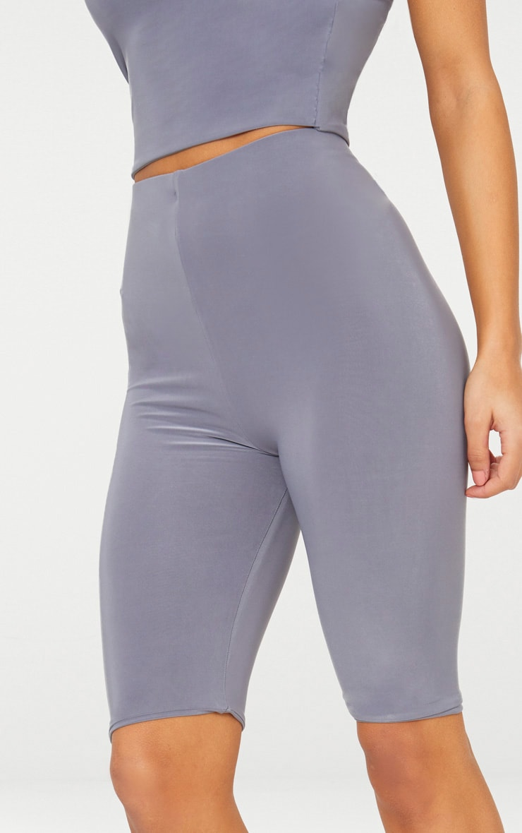 Grey Slinky Longline Bike Short 5