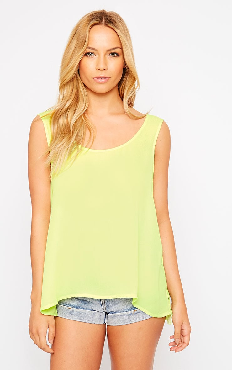 Lenny Lime Sheer Vest 1
