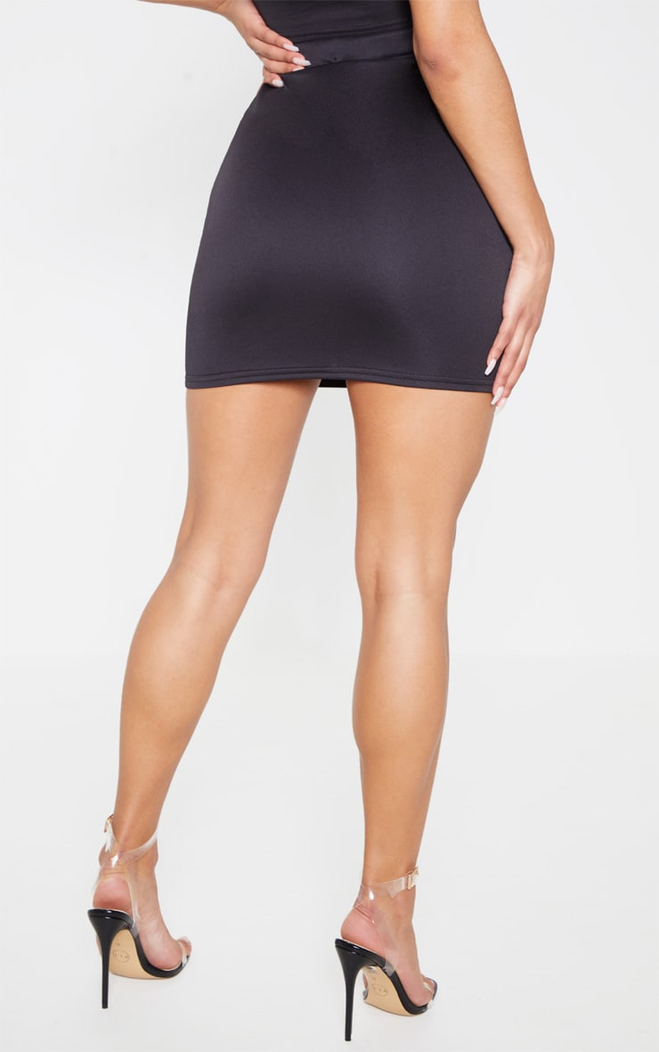 Black Hologram Contrast Panel Mini Skirt 4