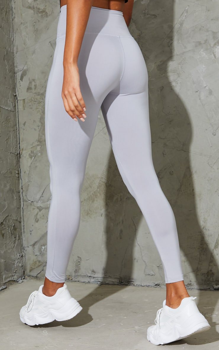 Grey High Waisted Sports Leggings 3