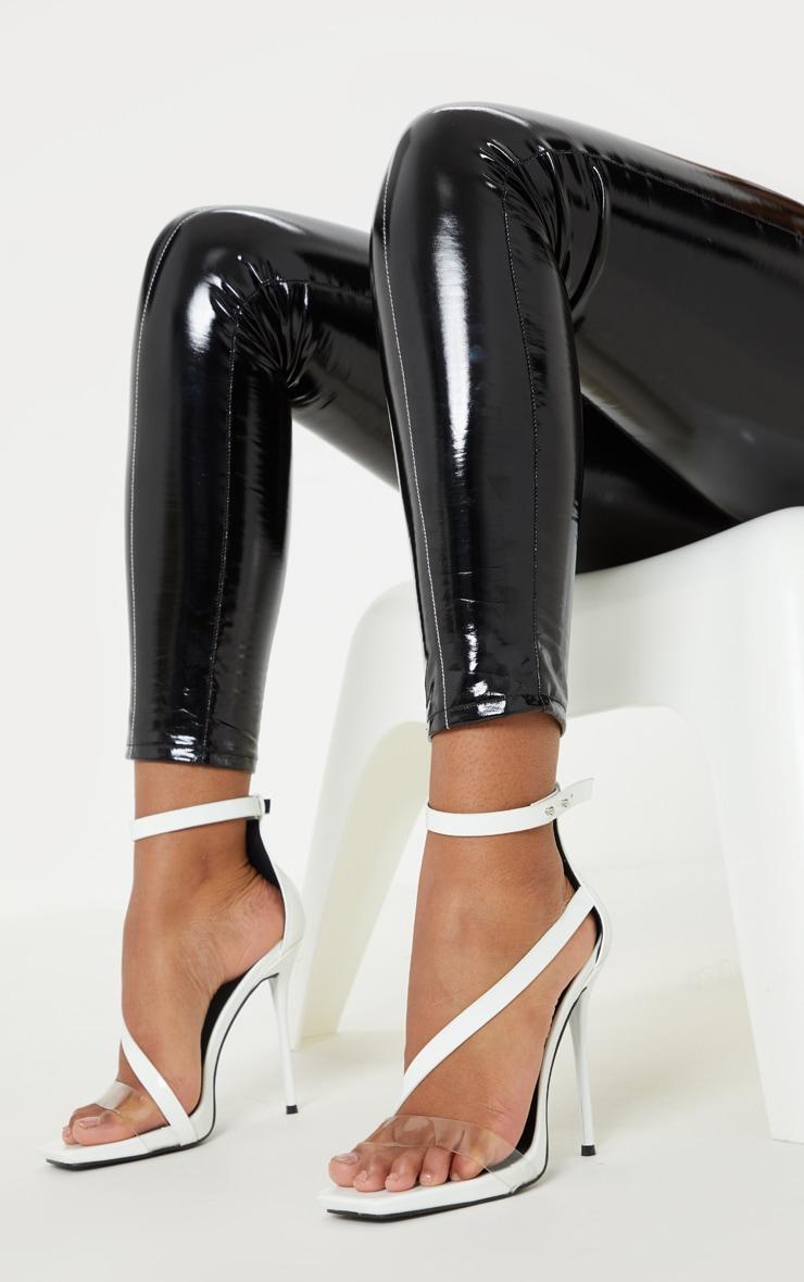 562f8fde4d3 White Square Toe Asymmetric Strap Sandal image 1