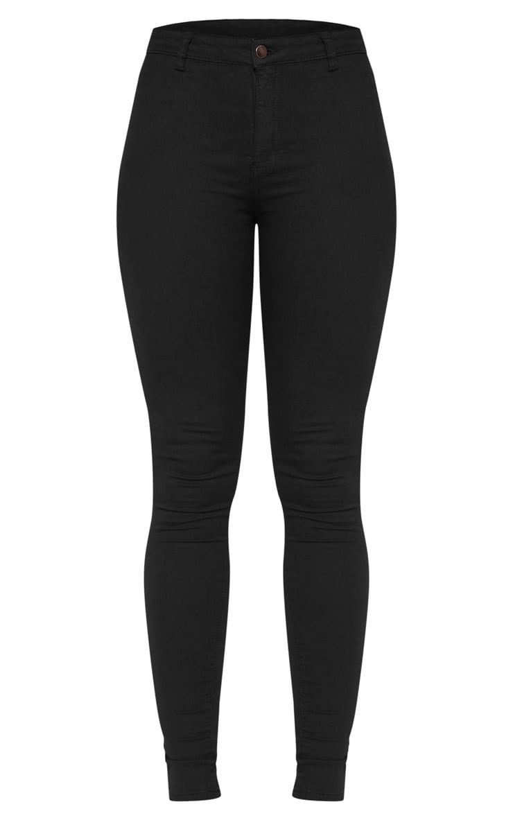 Tall Black Super Stretch Skinny Jeans  3