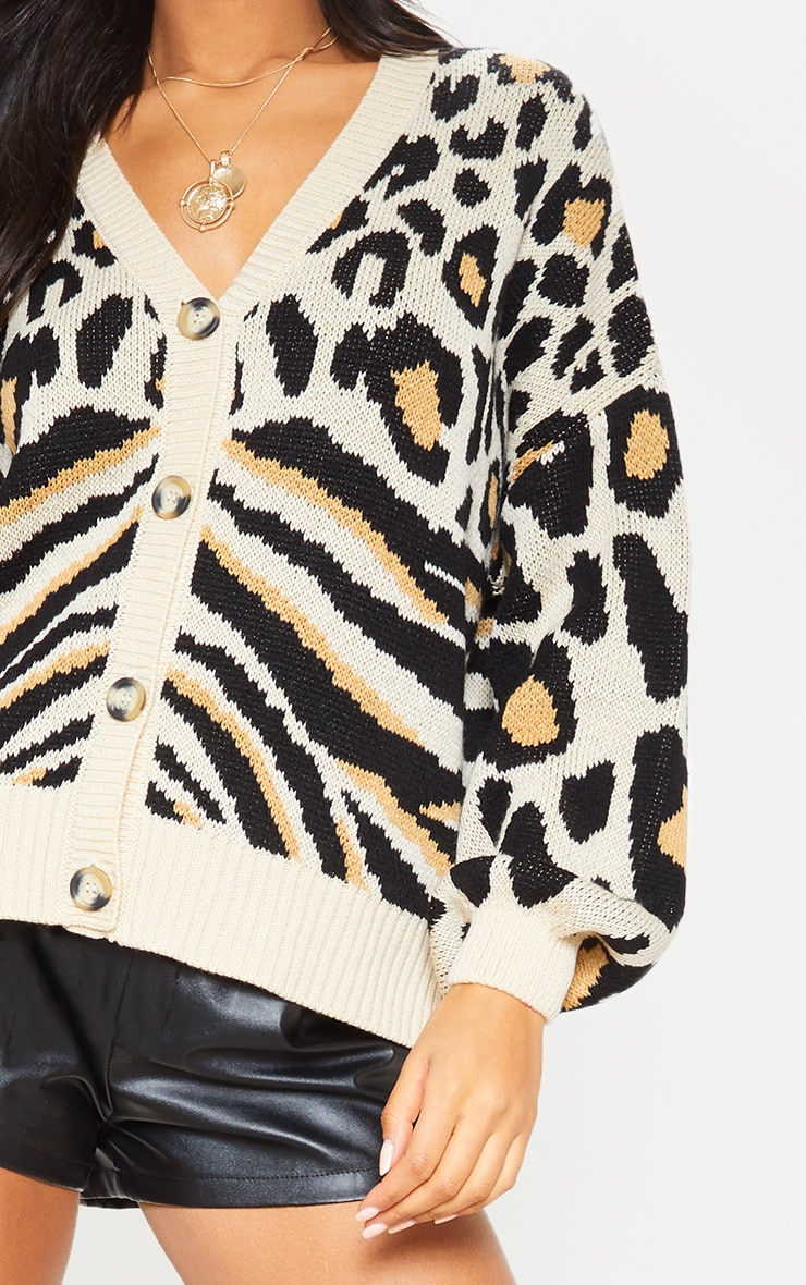 Stone Animal Knit Cardigan  5