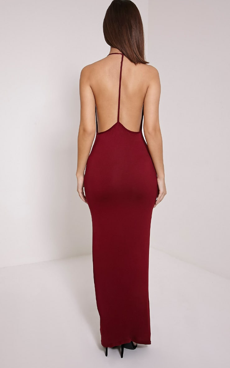 Basic Burgundy T Bar Back Maxi Dress 2