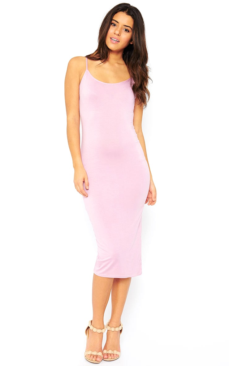 Basic Mauve Midi Vest Dress 3