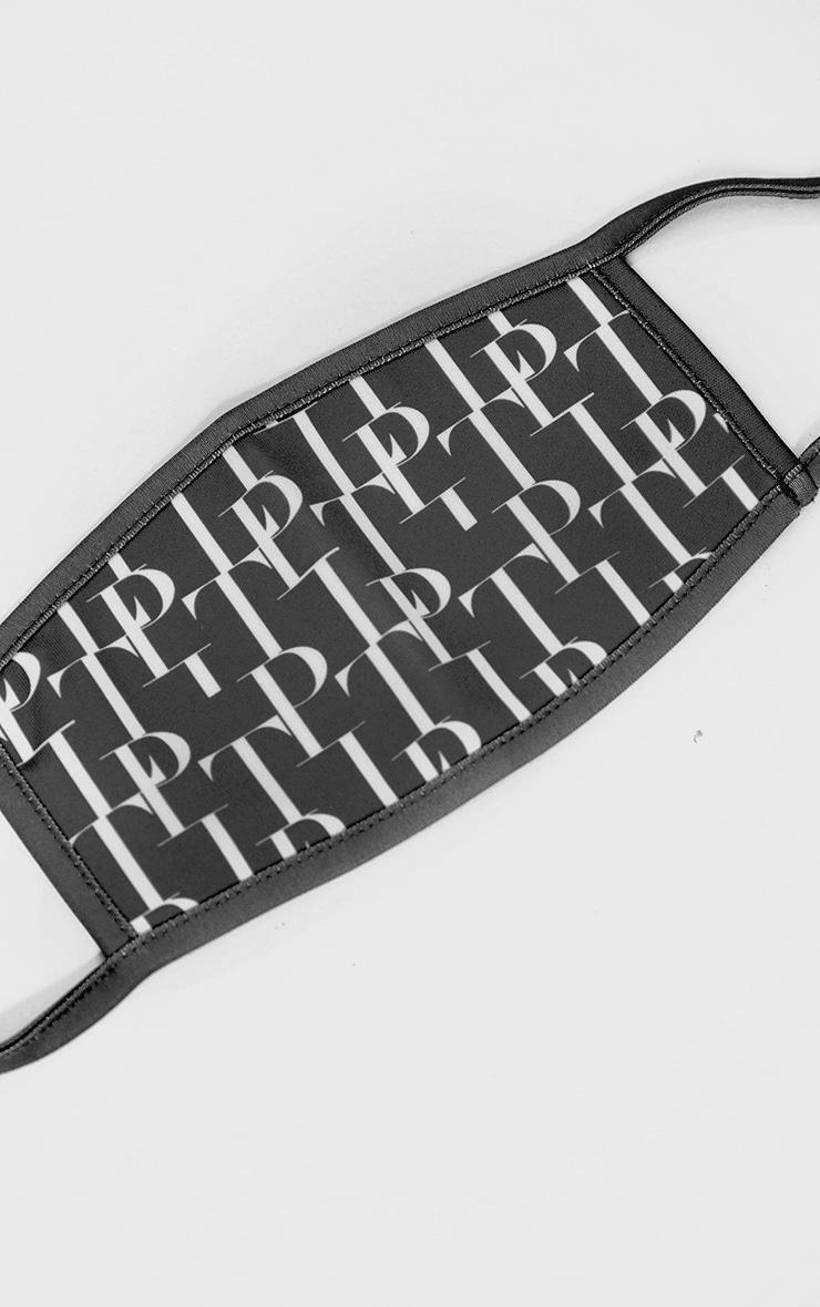 PLT Black Monogram Print Fashion Mask 2