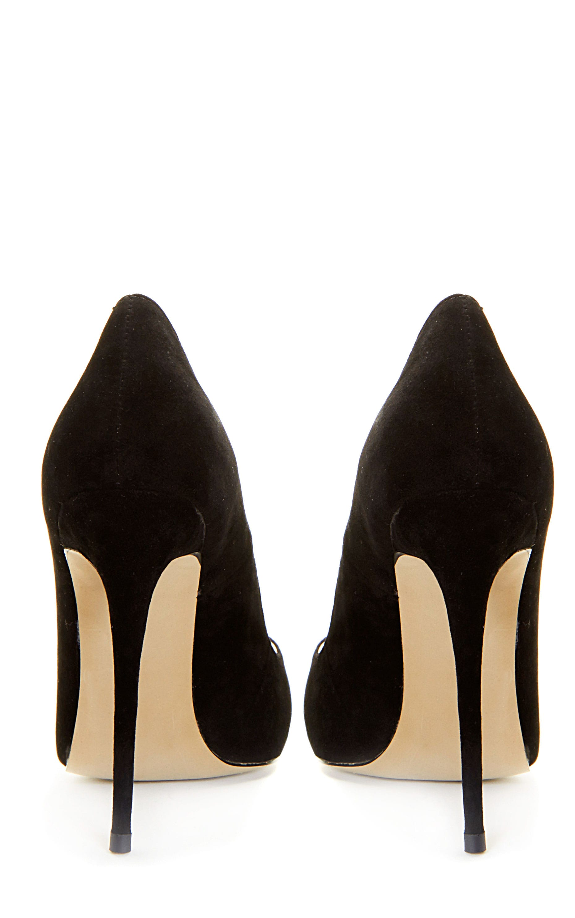 Sophie Black Suede Heeled Stiletto  2