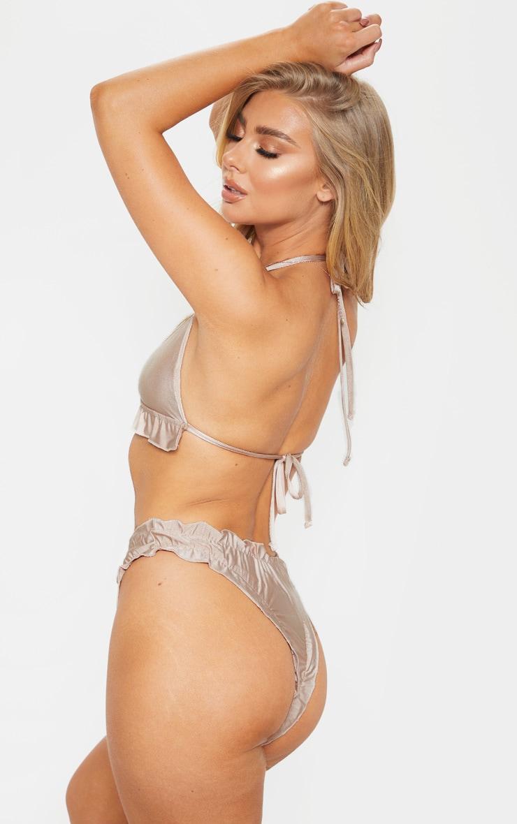 Nude  Frill Hem Bikini Top 2