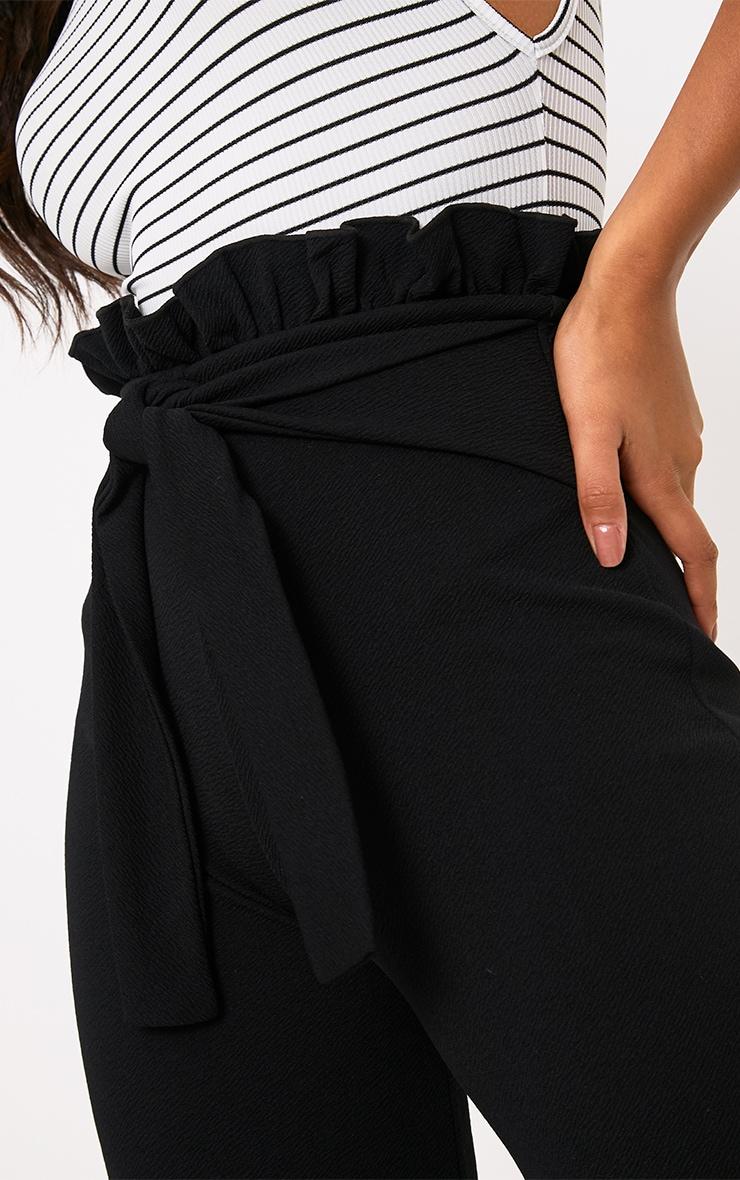 Jupe-culotte noire froncée 5