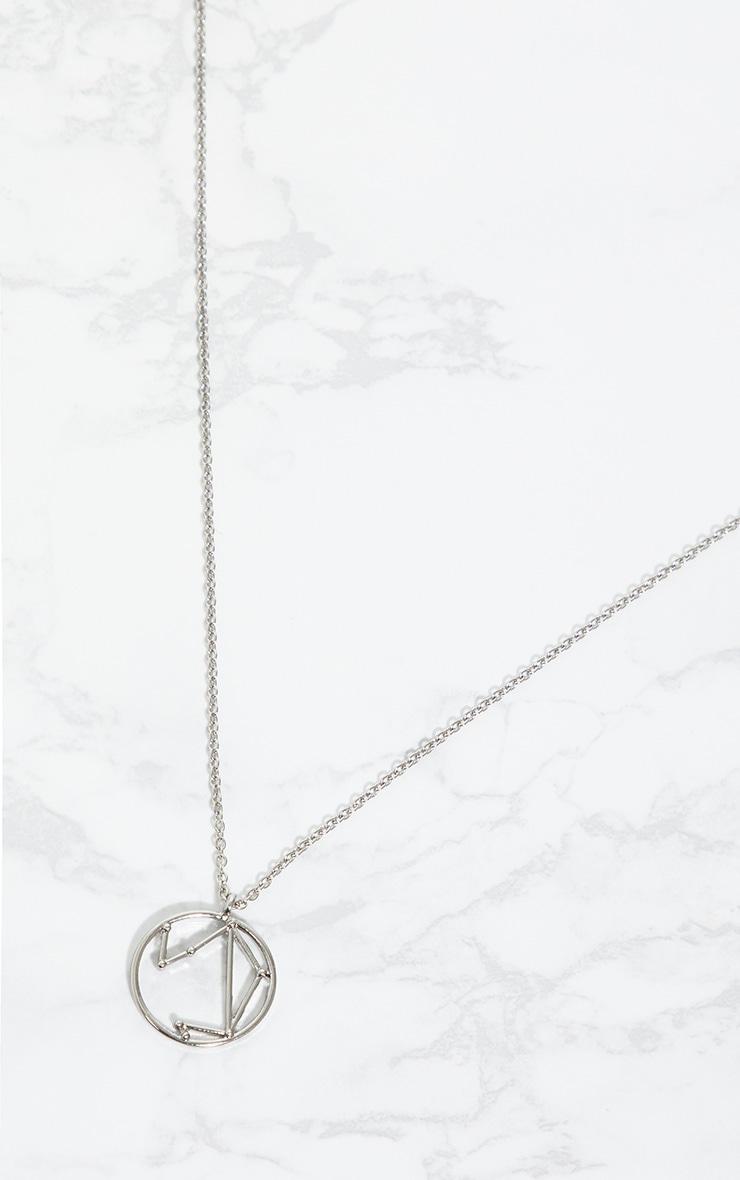Silver Zodiac Libra Star Constellation Necklace 3