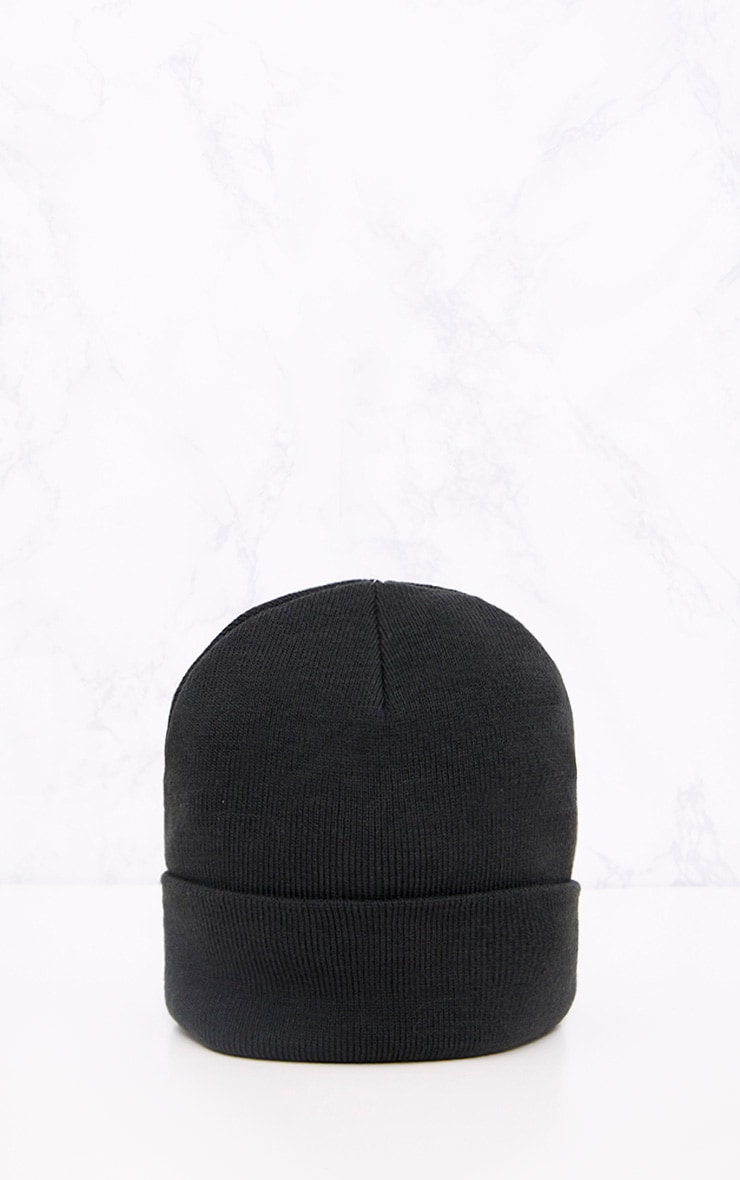 Black Beanie Hat 3