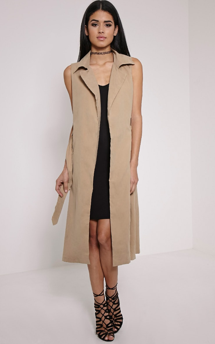 Carter Stone Sleeveless Trench 1
