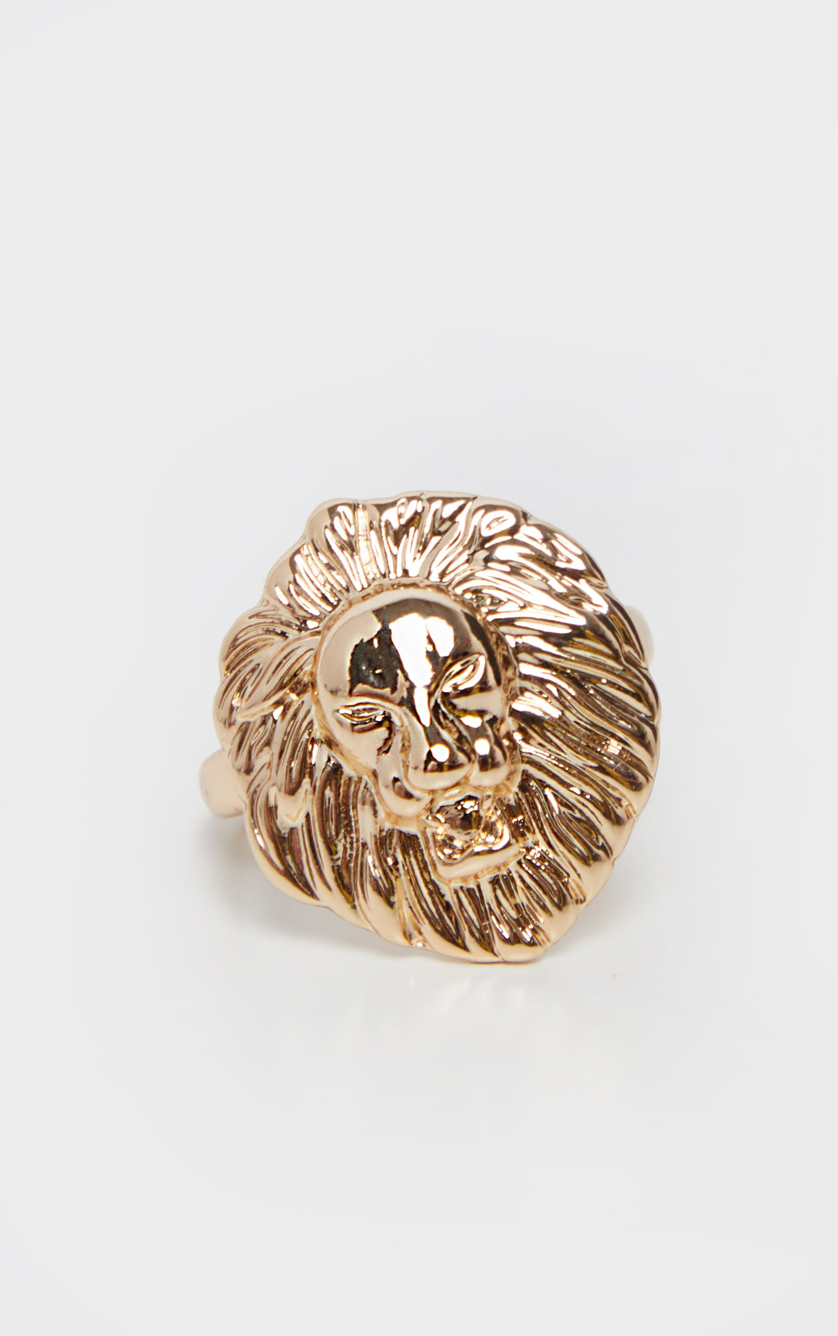 Gold Lions Head Ring