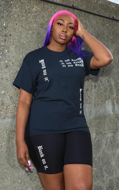 8c86708010b Tall Black Slogan T Shirt PrettyLittleThing Sticker