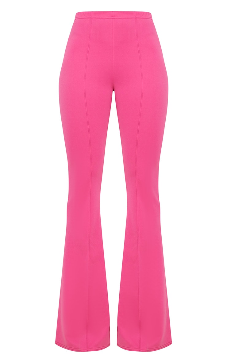 Fuchsia High Waist Extreme Flare Long Leg Pants 3