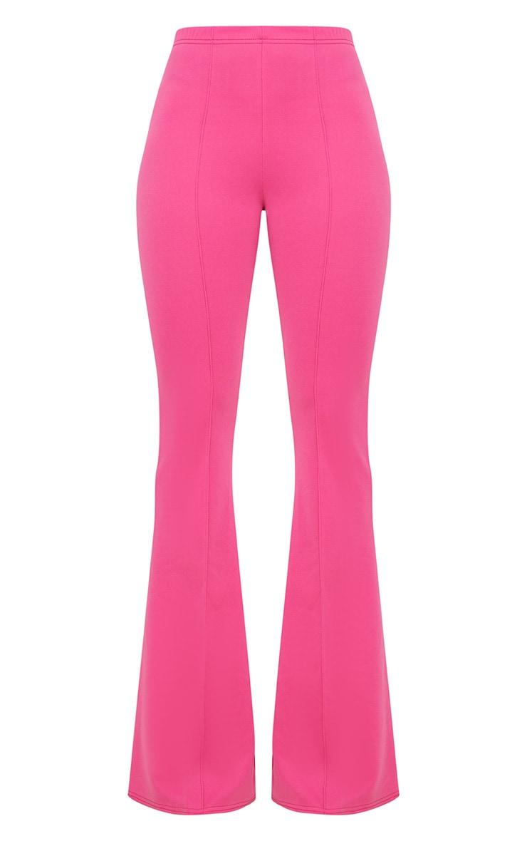 Pantalon taille haute long extrêmement évasé fuchsia 3