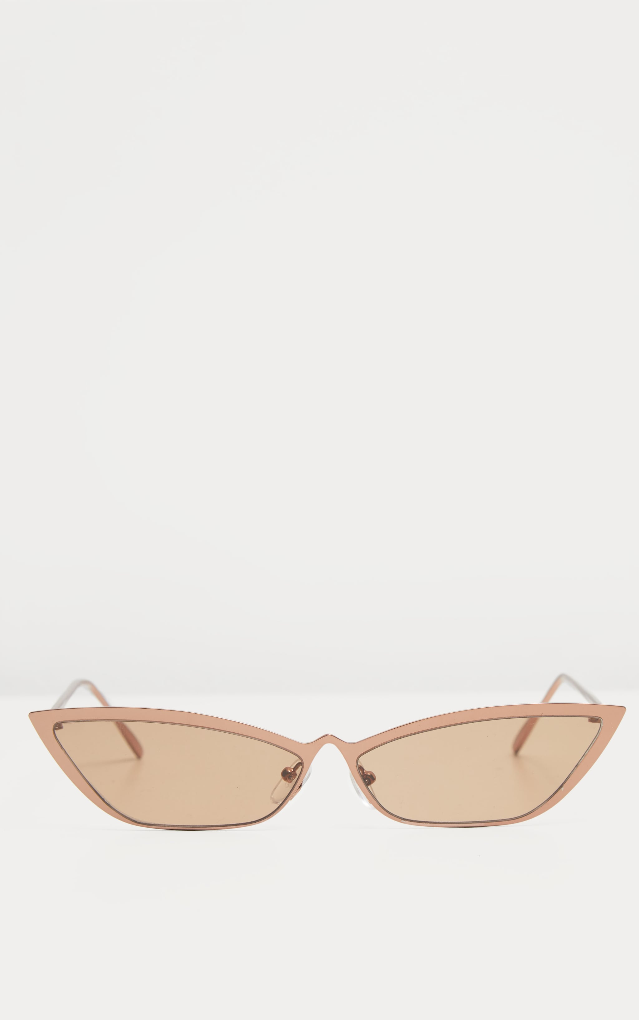 Bronze Slim Cat Eye Sunglasses 2