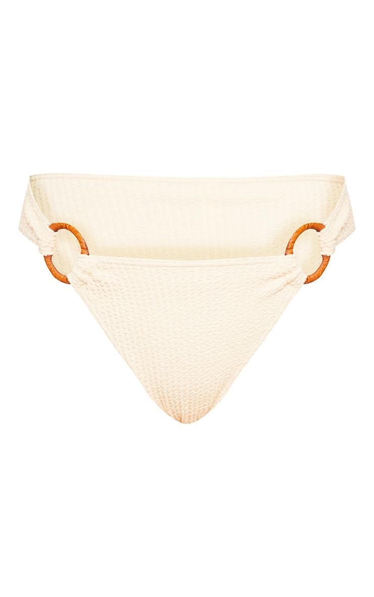 Sand Ring Detail Crinkle Bikini Bottom 7