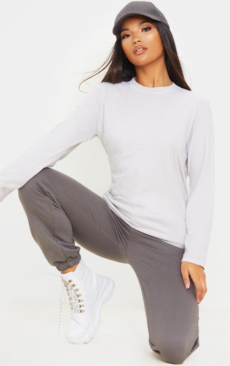 T-shirt sable délavé à manches longues 4