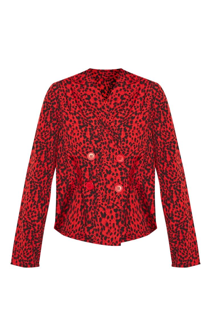 Red Leopard Button Shirt 3