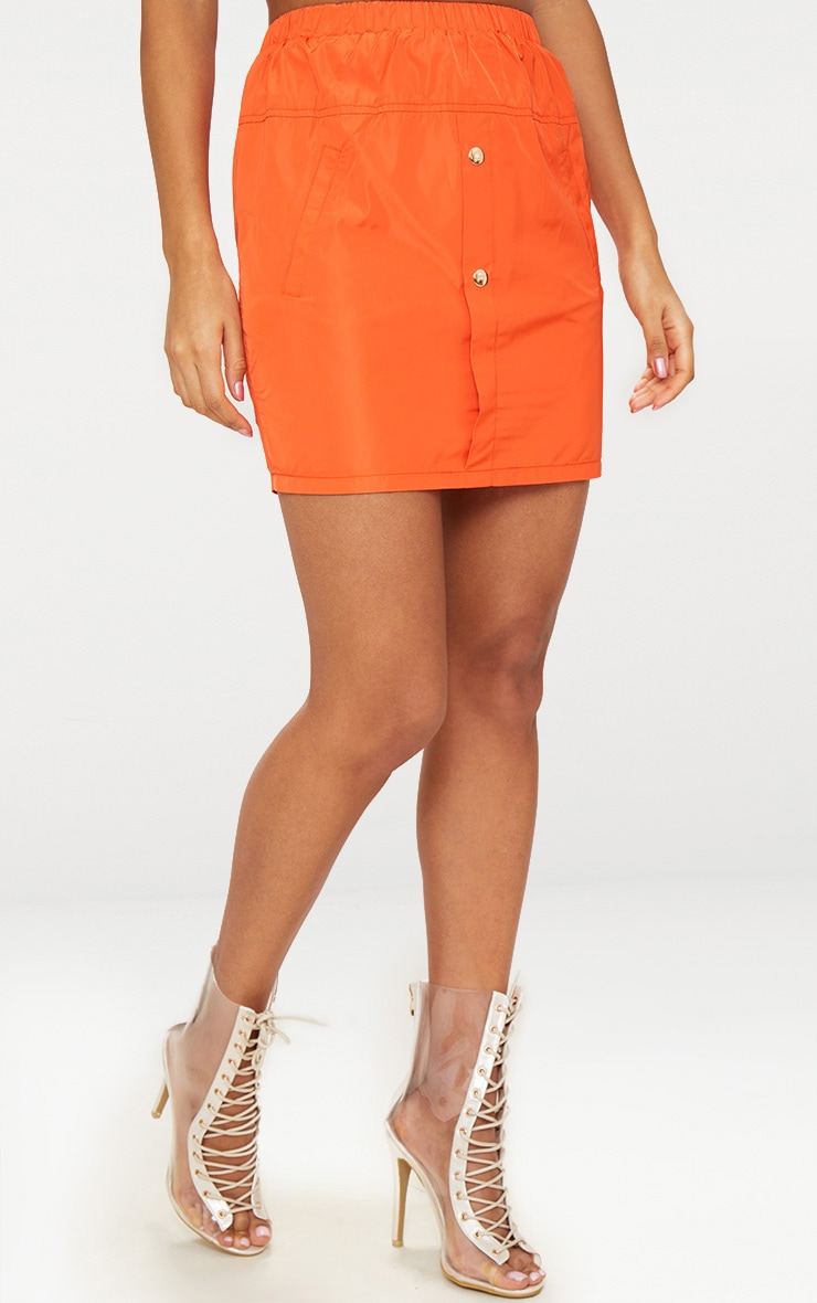 Orange Shell Suit Mini Skirt 2