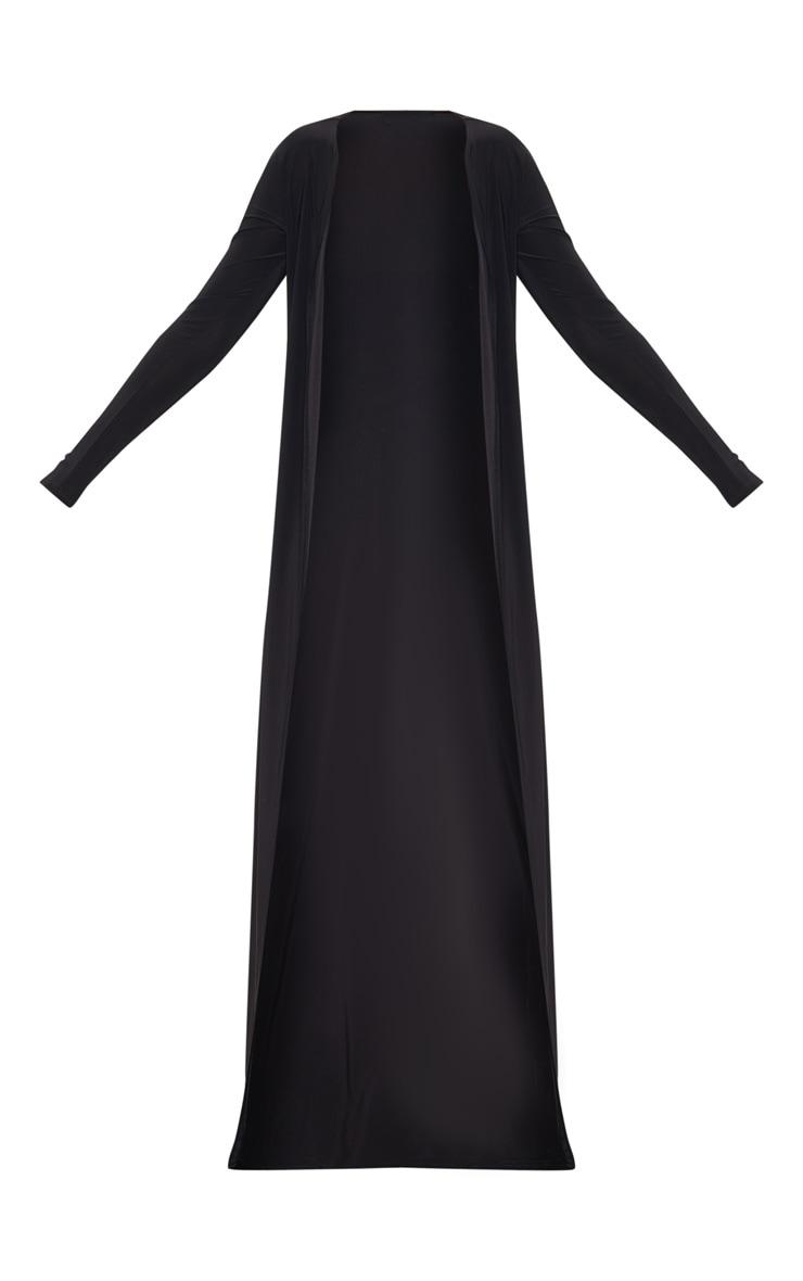 Veste très longue slinky noire  3