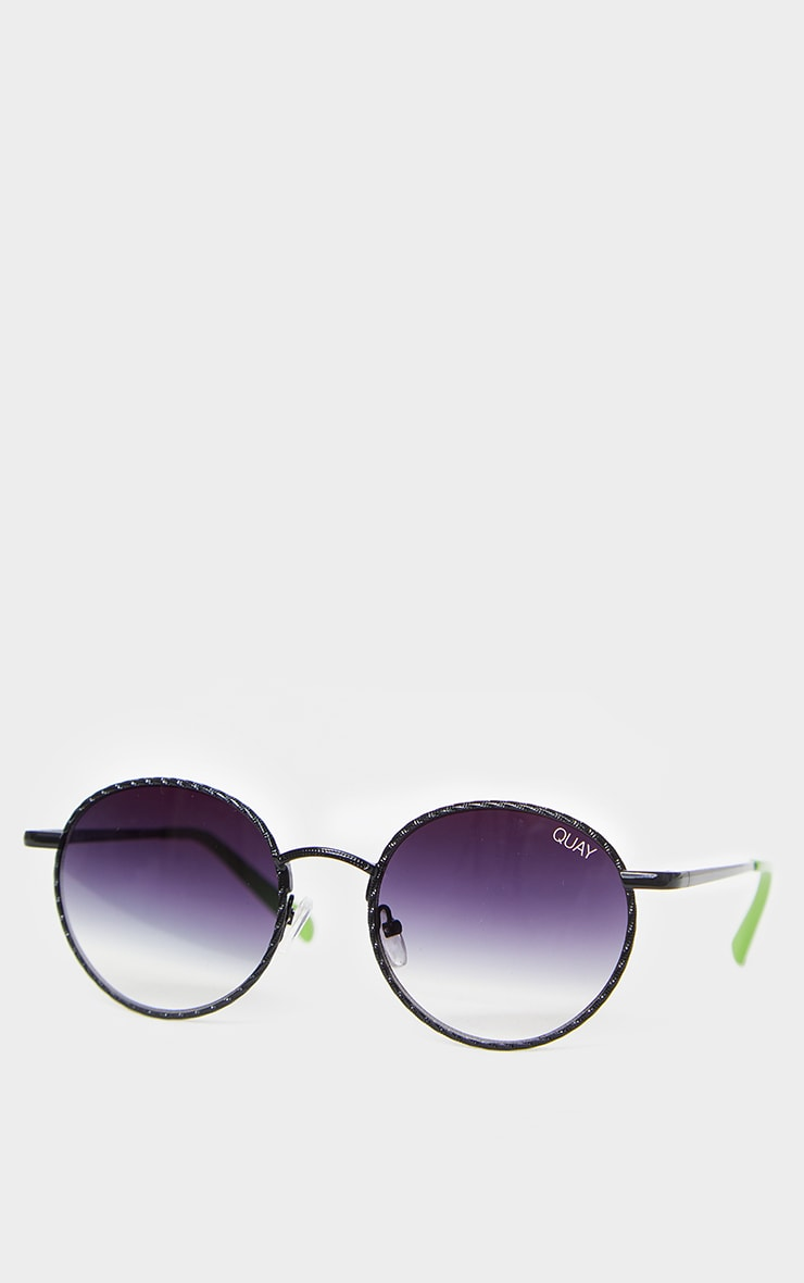 QUAY Australia Black Fade Lens Round I See You Sunglasses 2