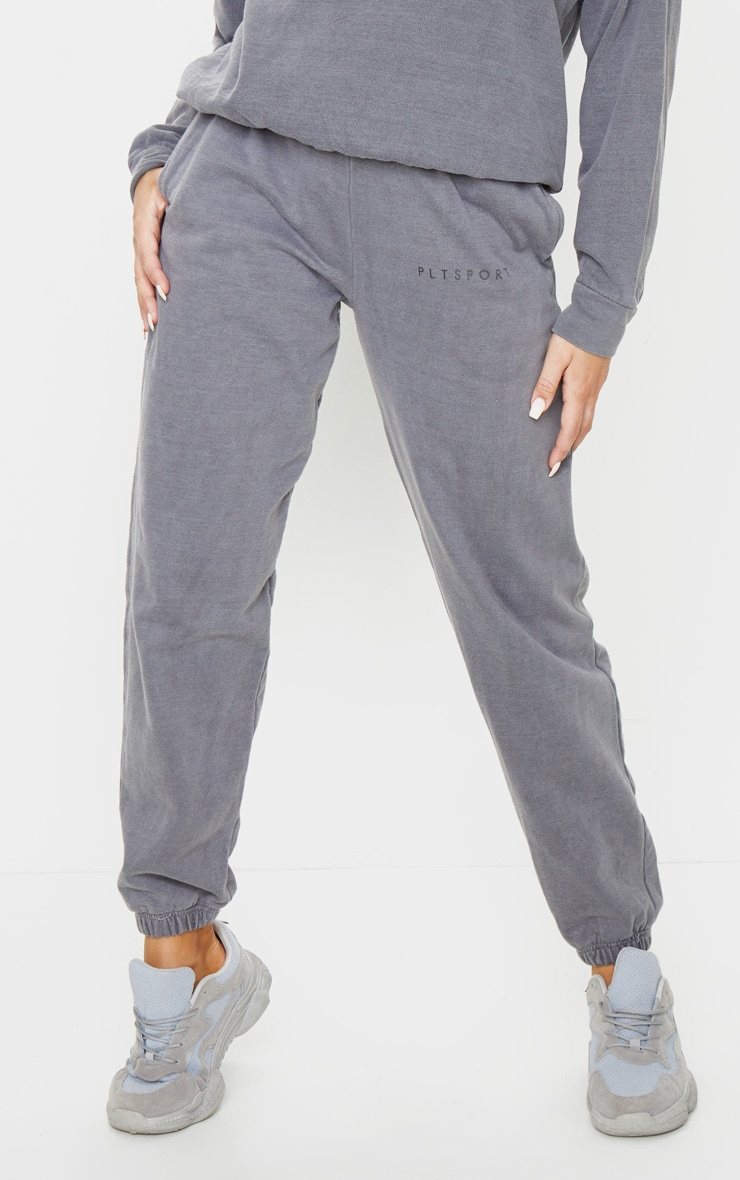 PRETTYLITTLETHING Charcoal Sport Joggers 2