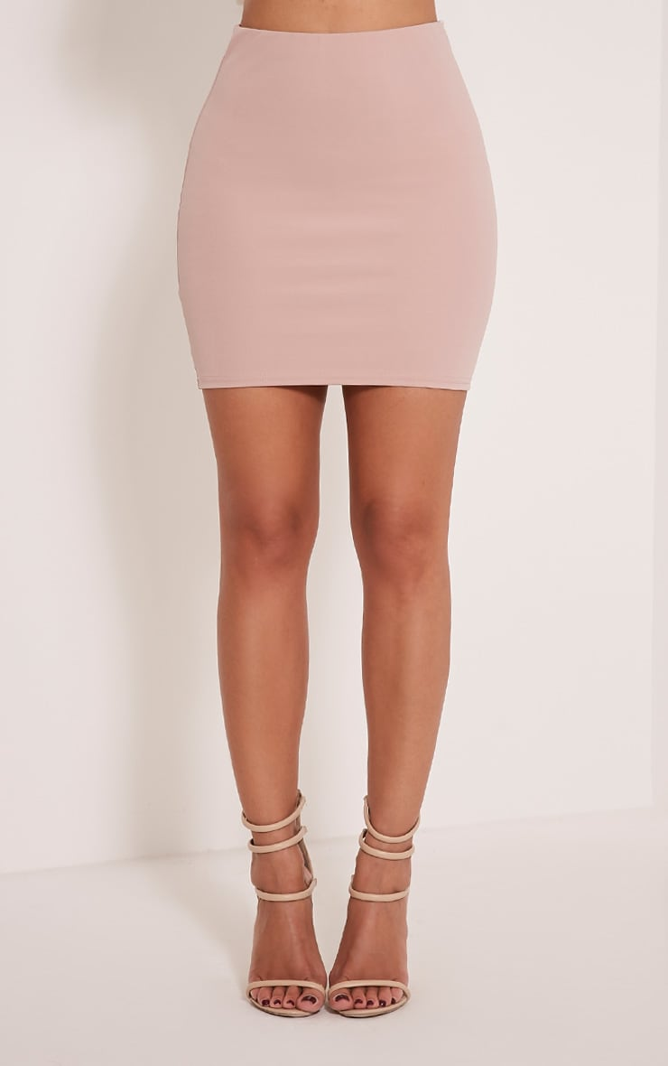 Milah Nude Scuba Mini Skirt 2