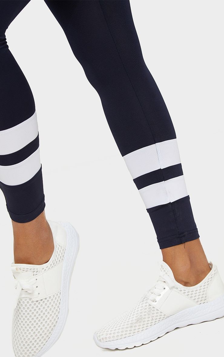 Navy Contrast Leggings 5