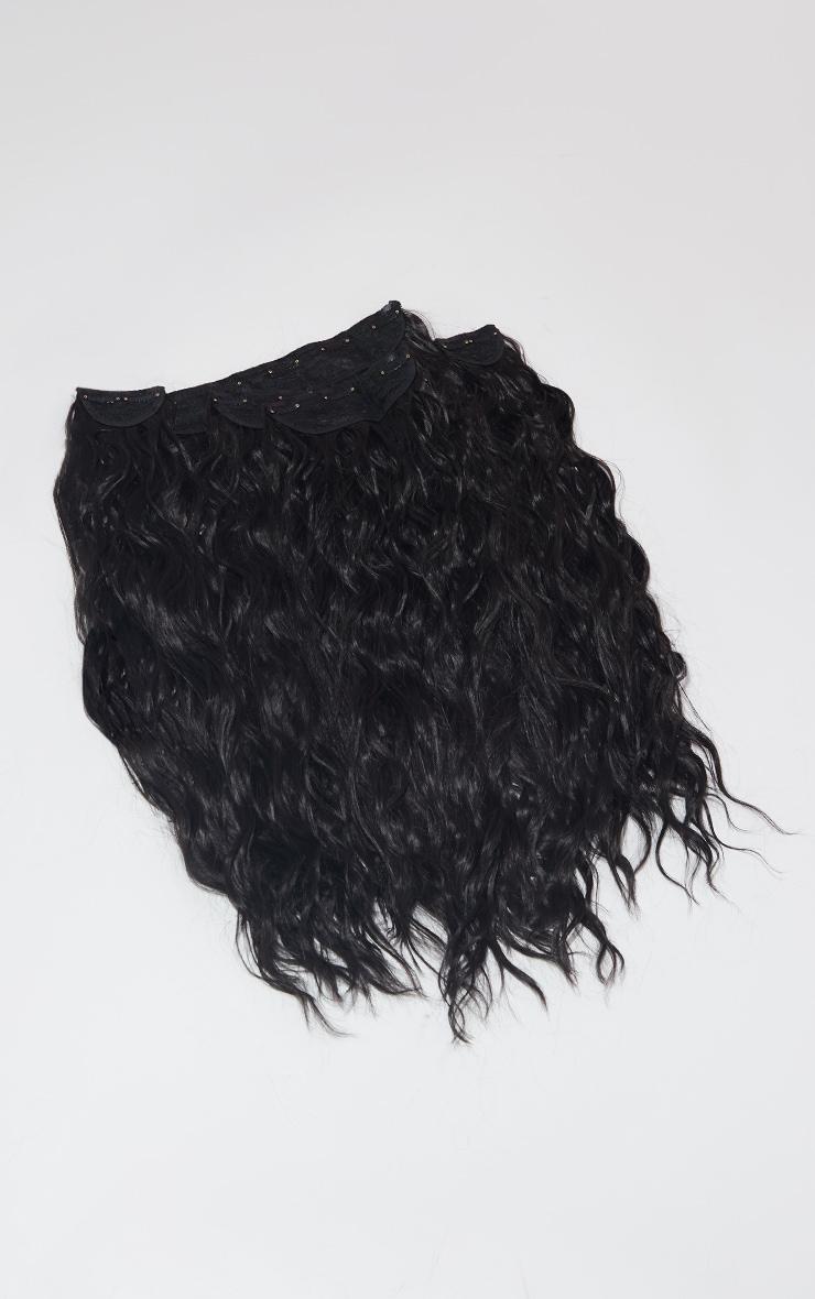LullaBellz Super Thick 26` 5 Piece Textured Wave Clip In Hair Extensions Dark Brown 5