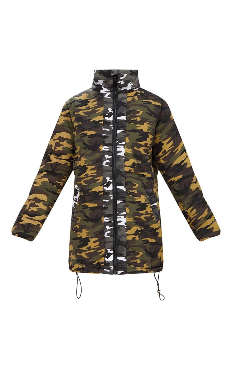 Khaki Oversized Camouflage Coat 3