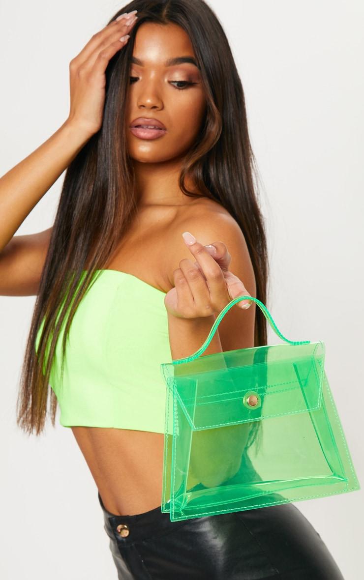 Neon Lime Clear Mini Bag