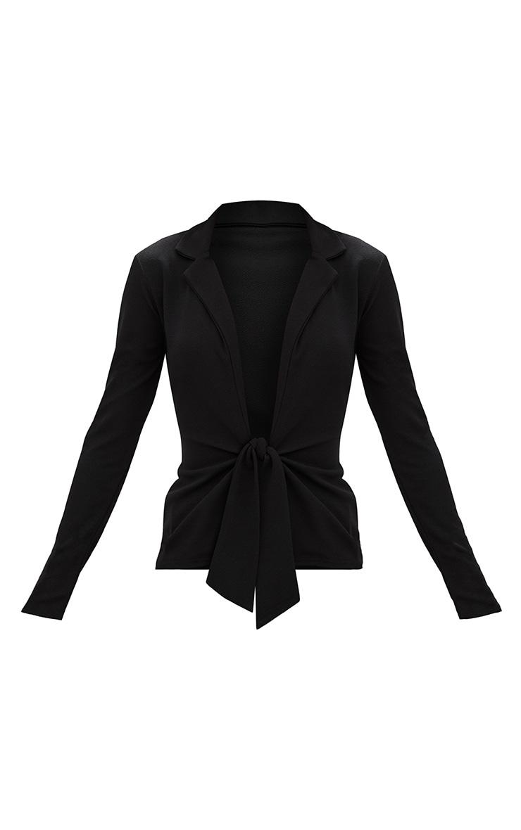 Black Tie Front Blazer 3
