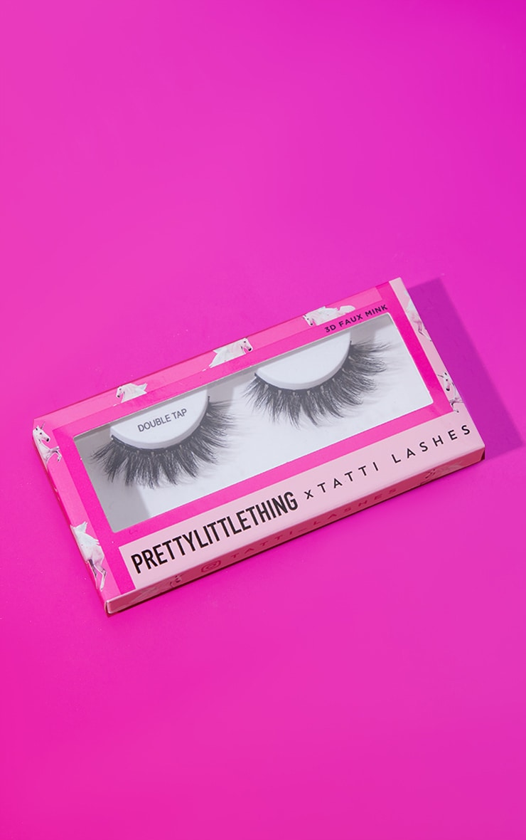 PRETTYLITTLETHING X Tatti Lashes Double Tap 3