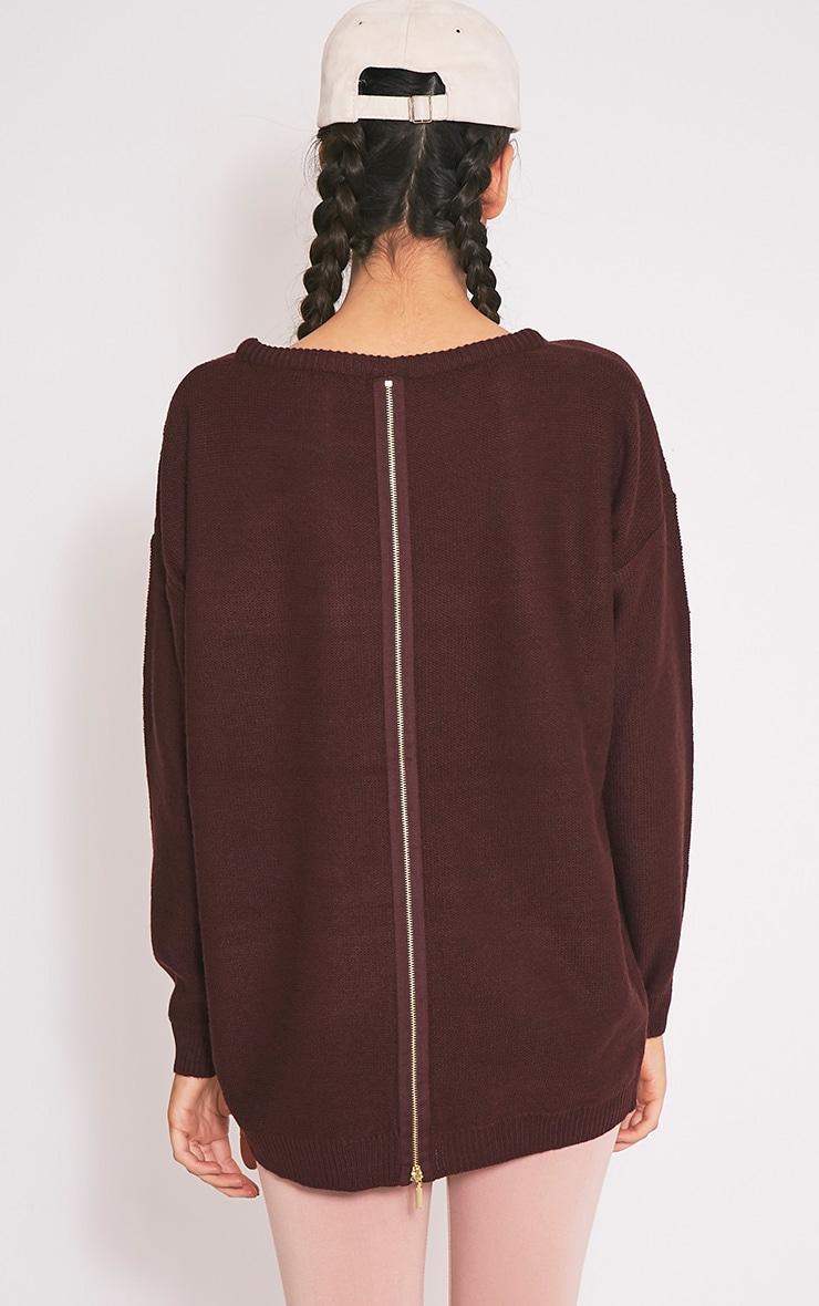 Trisha pull tricoté à fermeture éclair baie 2