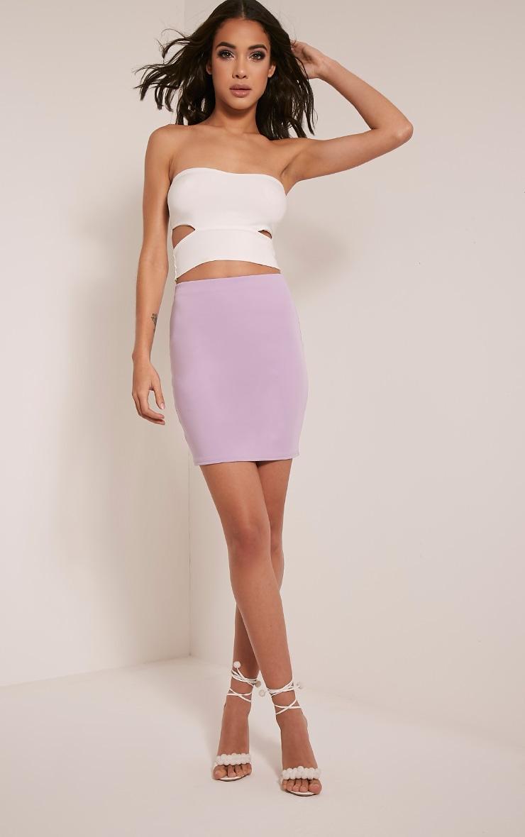 Milah Lilac Scuba Mini Skirt 6